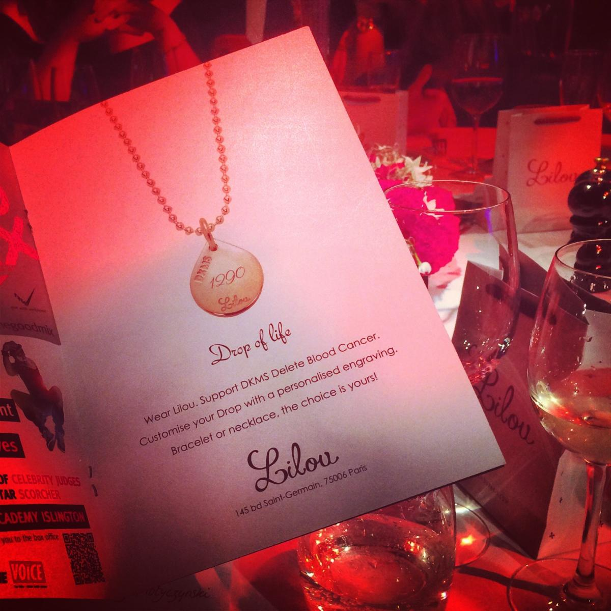"Lilou for Delete Blood Cancer at the Gala ""Let's make a spark"" in London"