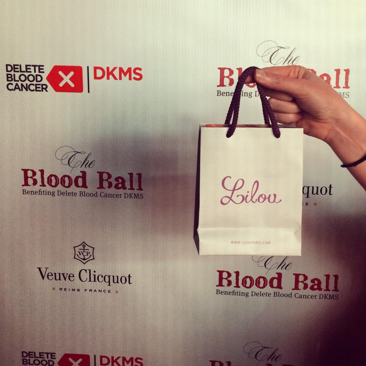Lilou for Delete Blood Cancer at the Blood Ball in New York